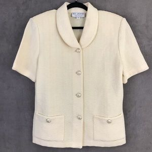 St. John Collection Marie Gray Cream Jacket